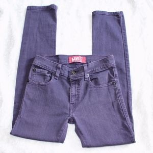 Levi's 510 Super Skinny Jeans in purple 26x26.5